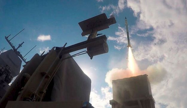 An Iron Dome launcher fires an interceptor rocket in this Israeli Defence Force (IDF) handout image received on November 28, 2017