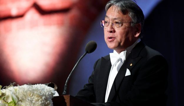 Kazuo Ishiguro, British writer, one of the Nobel laureates who sent an open letter to Turkish President  to ptotect the Altan brothers. December 10, 2017.