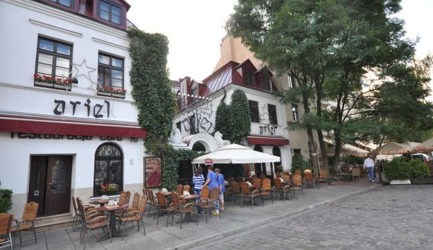 Kazimierz, the renewed Jewish neighborhood in Krakow, Poland. August 2012