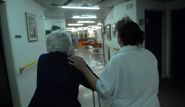 FILE PHOTO: Senior citizen at an Israeli nursing home