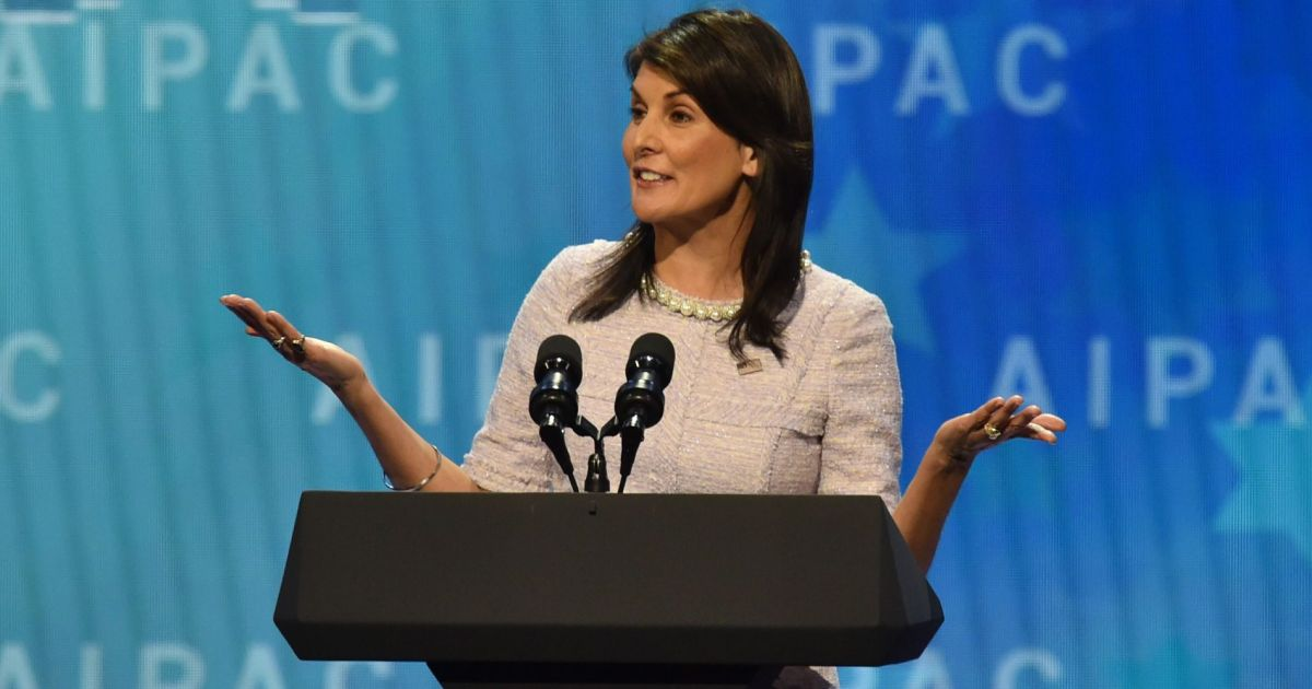 At AIPAC, Nikki Haley Says She Hopes to Attend Opening of U.S. Embassy in Jerusalem in May