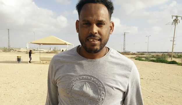 Thomas Yohannes at the Holot Detention Center, March 15, 2018.