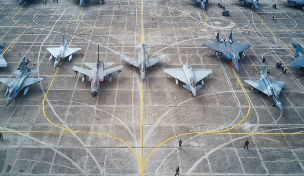 Fighters and pilots participating in the multi-national Iniochos 2018 exercise in Greece
