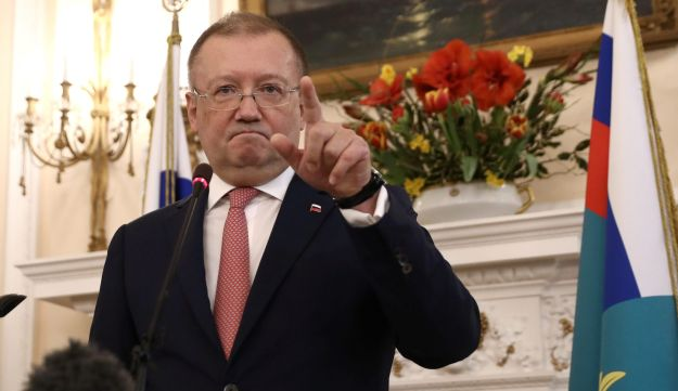 Russia's ambassador to the UK, Alexander Yakovenko, holds a news conference in the Russian Embassy in London, Britain, March 22, 2018