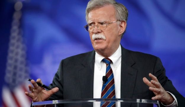 FILE - In this Feb. 24, 2017, file photo, former U.S. Ambassador to the U.N. John Bolton speaks at the Conservative Political Action Conference (CPAC) in Oxon Hill, Md. President Donald is replacing National security adviser H.R. McMaster with Bolton. (AP Photo/Alex Brandon, File)
