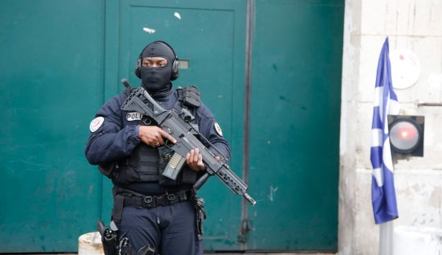 FILE PHOTO: A French police officer