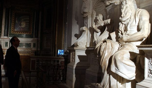 Michelangelo's Moses masterpiece inside St. Peter in Chains Basilica in Rome