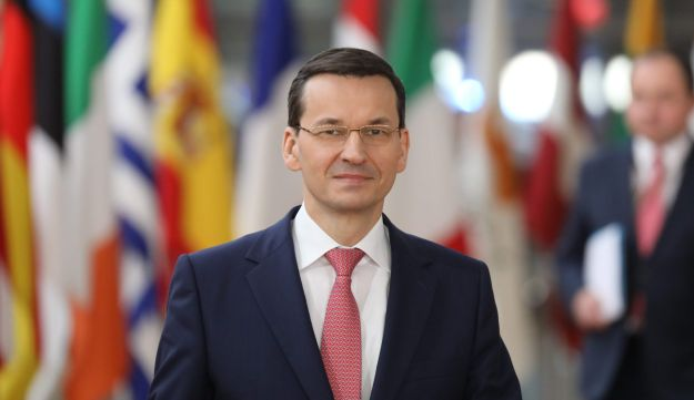 Polish Prime Minister Mateusz Morawiecki arrives on the first day of a summit of EU leaders at the EU headquarters in Brussels, on March 22, 2018.
