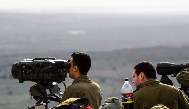 Israeli military forces in northern Golan Heights.