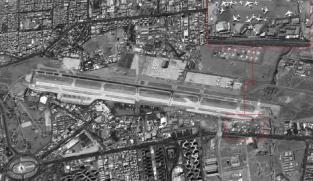 Image showing Iran's Mehrabad International Airport with Iranian forces