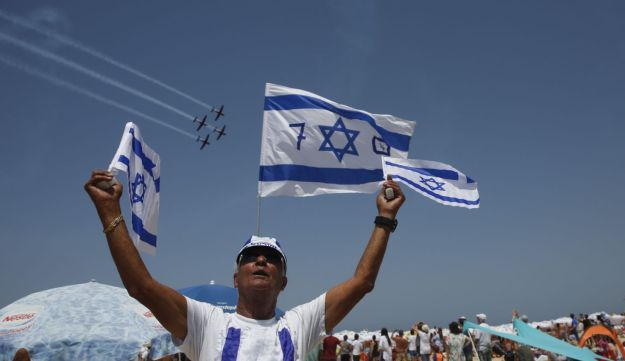 From the 70th Independence Day celebrations in Tel Aviv.