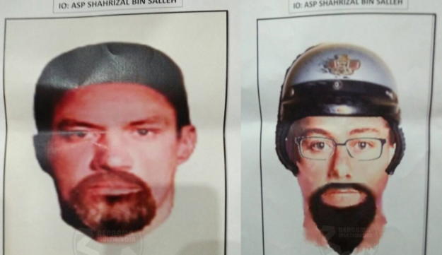 'Tall with a strong build, likely born in Middle East': Malaysia releases sketches of suspects in Hamas hit