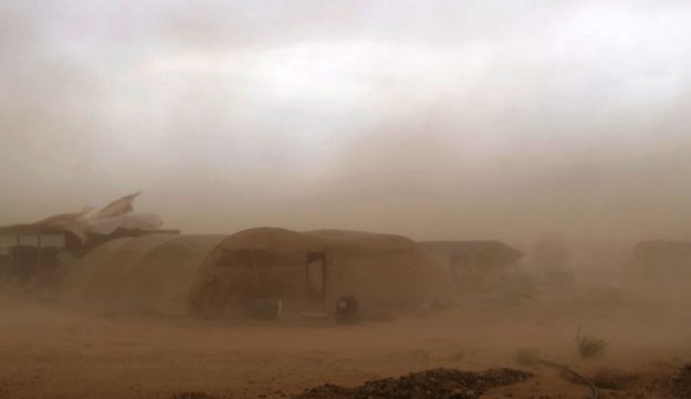 A sandstorm in the Arava on Wednesday.