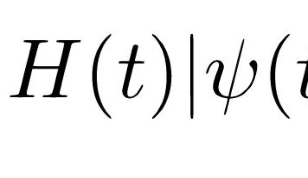 Schroedinger's equation, with which we calculate all the attributes of matter.