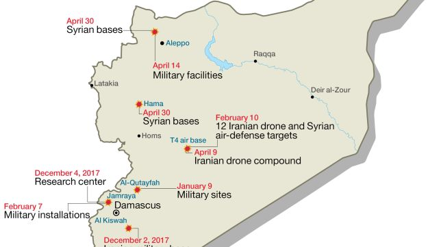 Alleged Israeli strikes in Syria