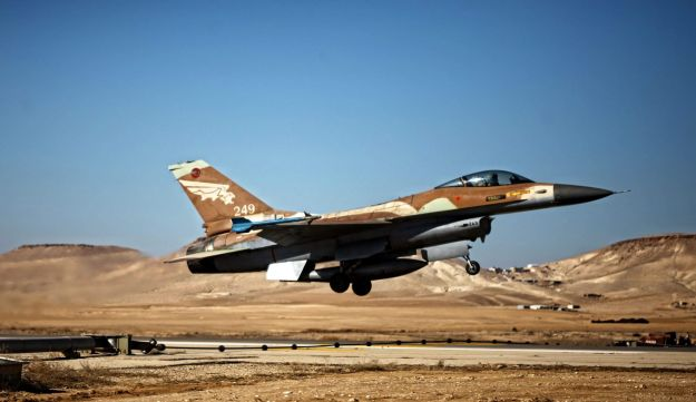 An Israeli jet takes off at the Nevatim airbase near Eilat.