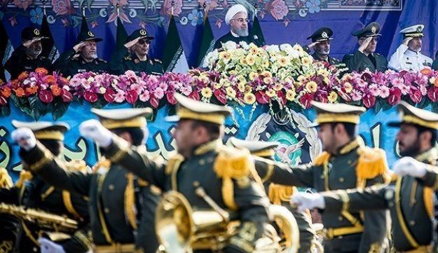 Iranian President Hassan Rouhani attends the National Army Day parade in Tehran, Iran, April 18, 2018