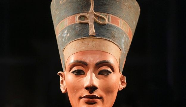 The 3,300-year-old bust of Queen Nefertiti is seen in Berlin, Germany, in 2011