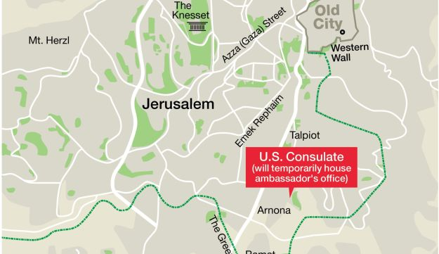 U.S. Consulate (will temporarily house ambassador's office)