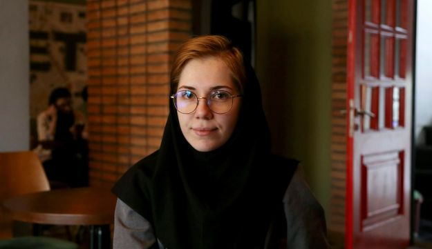 Shadi Gholami, 25, an architect, is interviewed in Tehran, Iran on May 5, 2018.