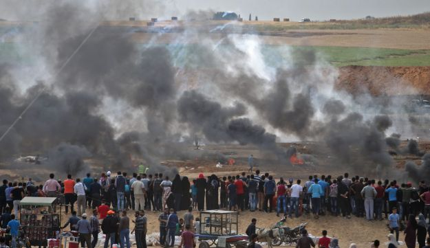 Protests at Gaza border, May 14, 2018