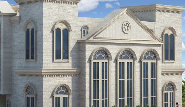 Artist's impression of the planned Be'ezrat Hashem synagogue in Beit Shemesh.