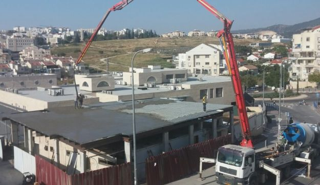 The construction site of the crowdfunded Be'ezrat Hashem synagogue in Beit Shemesh, Israel.