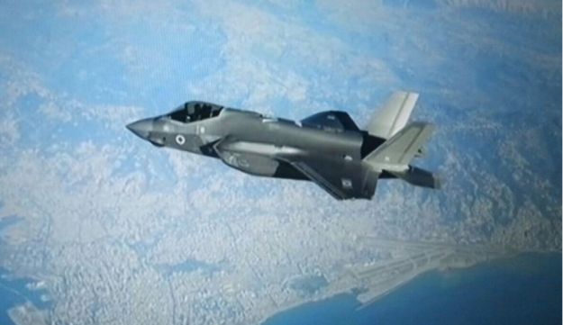 An Israeli F-35 stealth fighter in the skies over Beirut