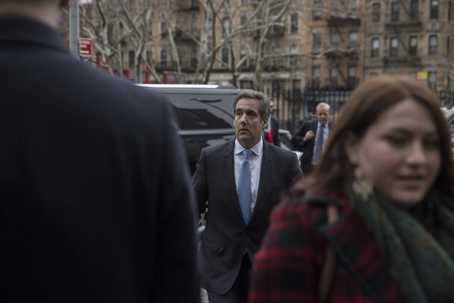 Michael Cohen, personal lawyer to U.S. President Donald Trump, arrives at Federal Court in New York, U.S., on Monday, April 16, 2018. Cohen says he gave legal advice to three clients in the past year, including the president and Elliott Broidy, former deputy finance chairman of the Republican National Committee. Photographer: Victor J. Blue/Bloomberg