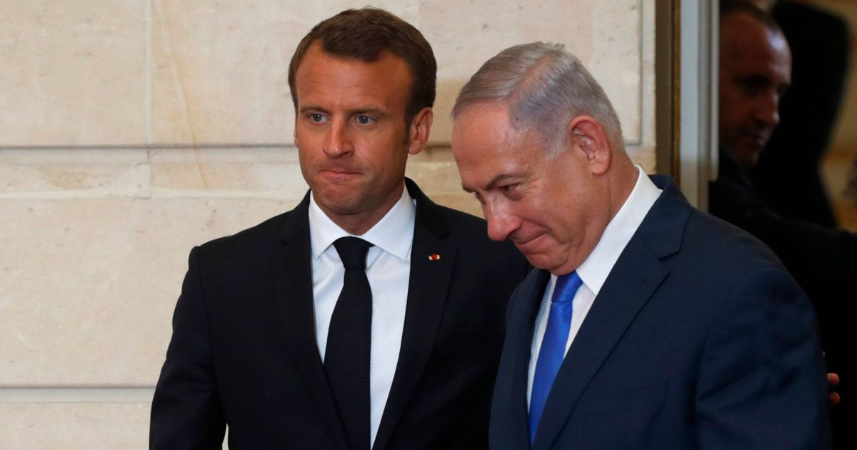 Macron Expresses Hope Netanyahu's New Government Will Push for Two-state Solution