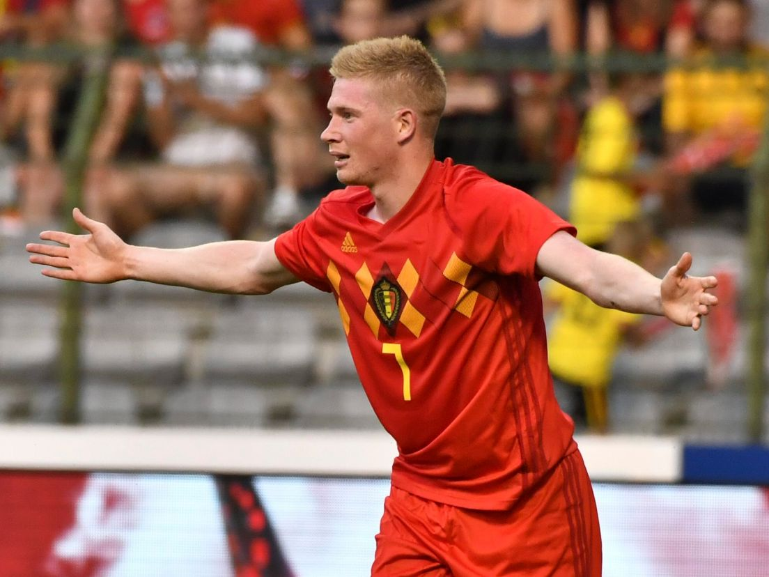 cfefa7d6e Belgium s Kevin De Bruyne during a friendly soccer match between Belgium  and Egypt in Brussels