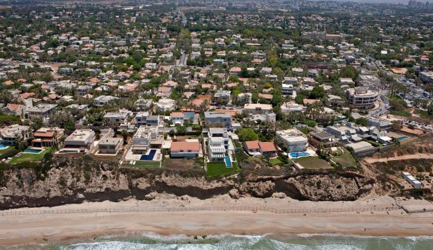 Herzliya Pituach, one of Israel's wealthiest cities, as seen from the air.