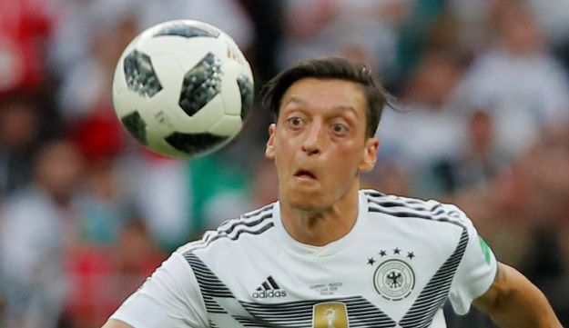 Germany's Mesut Ozil in action in World Cup match of Germany vs Mexico at Luzhniki Stadium, Moscow, Russia on June 17, 2018