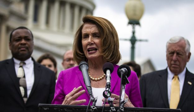 House Minority Leader Nancy Pelosi speaks during a news conference on Capitol Hill in Washington, D.C., U.S., on Thursday, June 21, 2018.