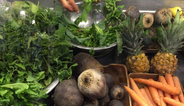In the raw: Root vegetables, fruit and leaves at Neroli.