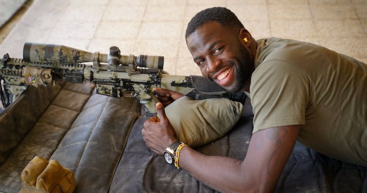 NBA all-star Draymond Green faces outrage after filmed shooting guns with Israeli forces