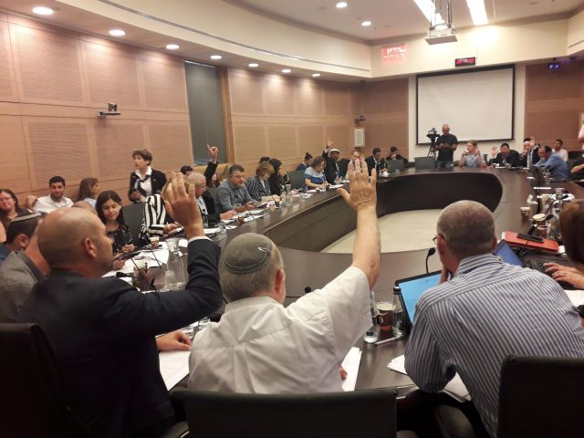 Israeli lawmakers discuss and vote on the nation-state bill.