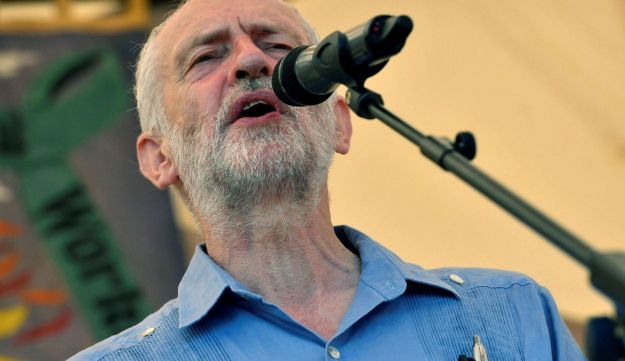 Jeremy Corbyn speaks at the Tolpuddle Martyrs Festival in England, July 22, 2018.