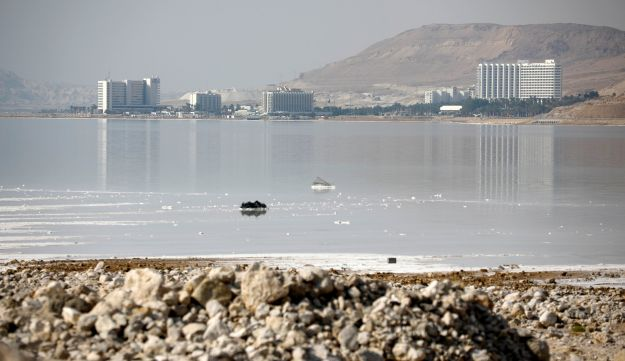 A general view shows hotels on the shore of the Dead Sea, Israel July 17, 2018.