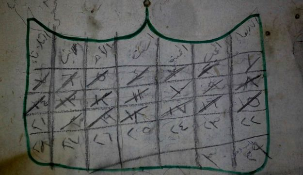 A calendar is painted by a prisoner on a wall of an underground cell in the abandoned Tawbeh Prison, where over the years the Army of Islam detained hundreds of people, in Douma, near the Syrian capital Damascus, Syria, July 15, 2018.