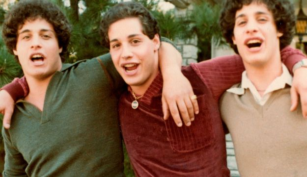 The triplets Eddy Galland, from left, David Kellman and Bobby Shafran in an undated photo by film studio NEON.