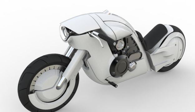A motorcycle Padwa designed for Harley-Davidson in 2013.