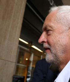 Jeremy Corbyn, UK Labour leader, arrives at a meeting of his party's National Executive Committee to discuss its definition of anti-Semitism. London, September 4, 2018.