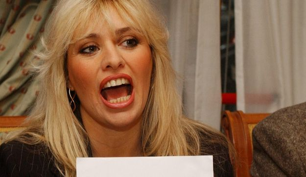Alessandra Mussolini, granddaughter of Italian fascist dictator Benito Mussolini, during a press conference in Rome, Thursday December 18, 2003