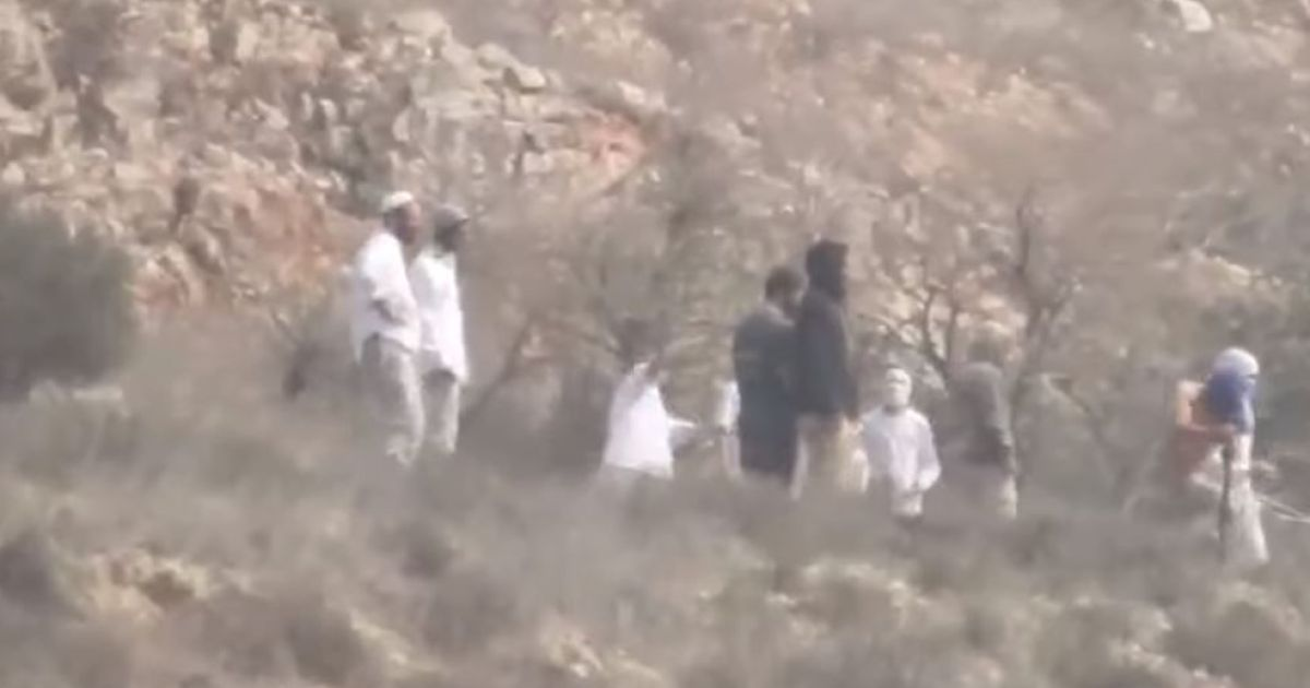 Israeli soldiers filmed standing by in West Bank as settlers throw rocks at Palestinians