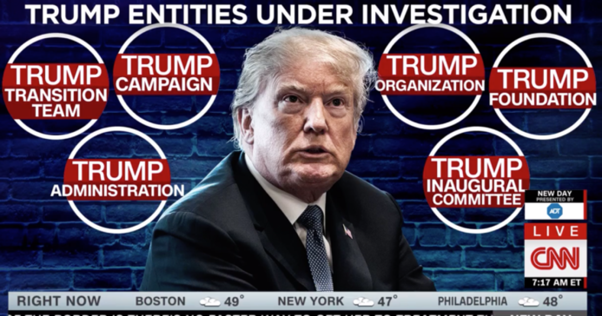 Image result for images of Trump and 17 investigations