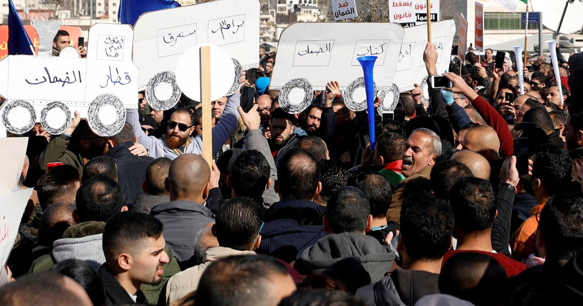 Thousands of Palestinians Strike in West Bank Over PA Social Security Law