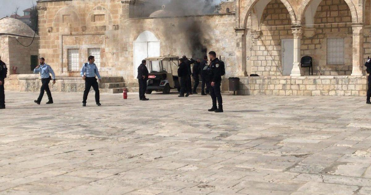Jew Detector: Israel Police Break Into Temple Mount After Firebomb