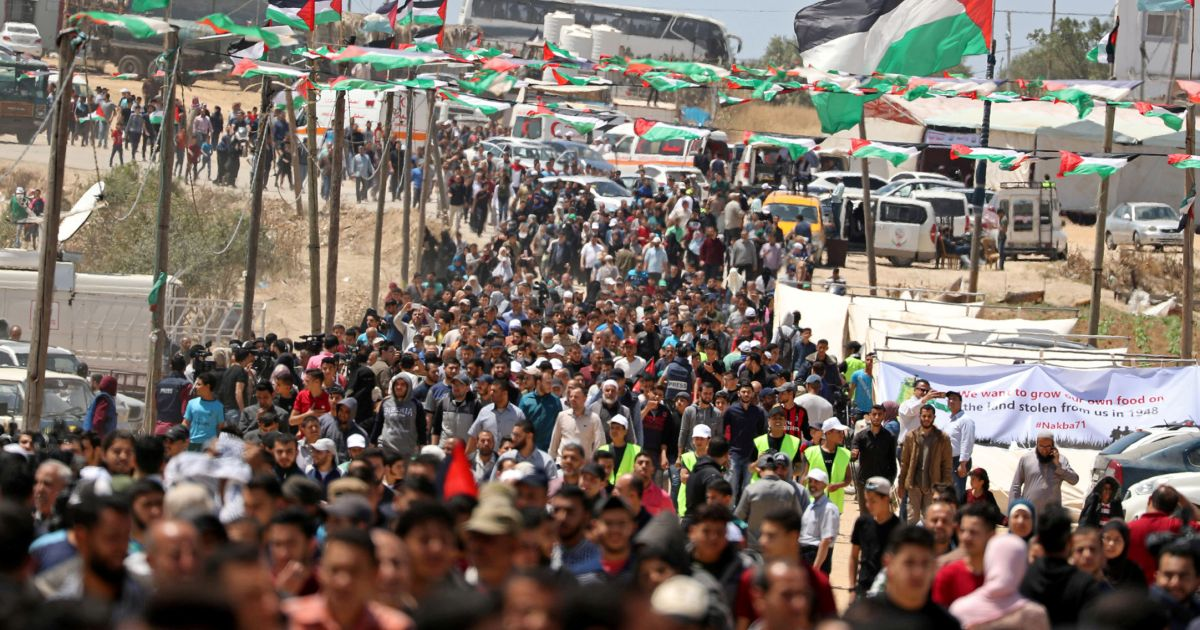 10,000 Gazans March on Nakba Day, 65 Injured in Clashes With Israeli Forces