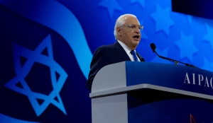 The U.S. ambassador to Israel, David Friedman, speaking at the annual AIPAC conference in Washington, March 26, 2019.